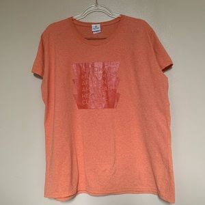 SMITHSONIAN INSTITUTION - orange T-shirt Sz 2XL